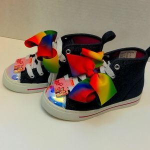JoJo Siwa Denim Rainbow Shoes. Nickelodeon